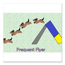 "Frequent Flyer Square Car Magnet 3"" x 3"""