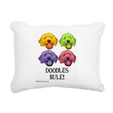 Doodles Rule Rectangular Canvas Pillow