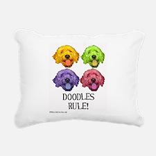 Doodles Rule Rectangular Canvas Pillow
