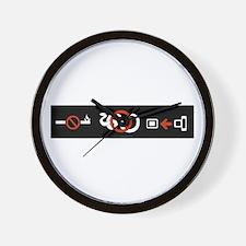 No Snakes Wall Clock