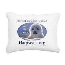 Save the Seals! Rectangular Canvas Pillow