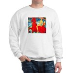 BATHING THE RED HORSE Sweatshirt