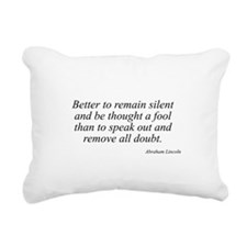 Abraham Lincoln quote 14 Rectangular Canvas Pillow