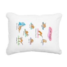 Cat YOGA POSES Rectangular Canvas Pillow