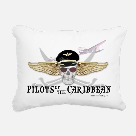 Pilots of the Caribbean Rectangular Canvas Pillow