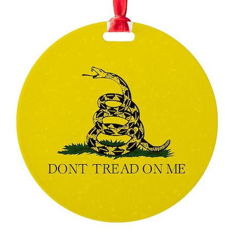 Gadsden Flag Round Ornament