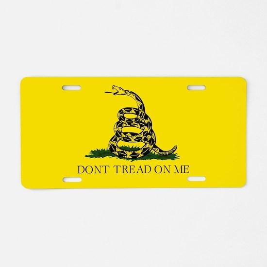 Gadsden Flag Aluminum License Plate