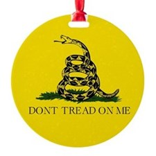 Gadsden Flag Round Ornament