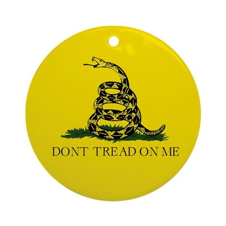 Gadsden Flag Ornament (Round)