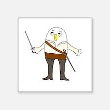 "Opera Singer Square Sticker 3"" x 3"""