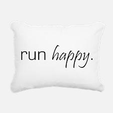 Run Happy Rectangular Canvas Pillow