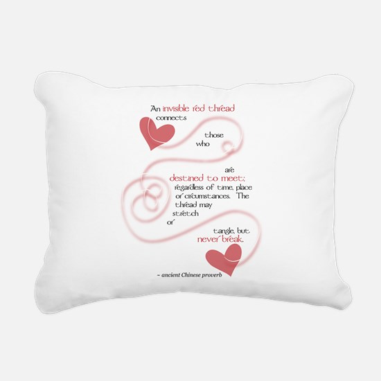 Invisible Red Thread Rectangular Canvas Pillow