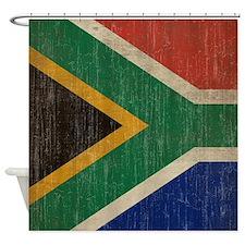 Vintage South Africa Flag Shower Curtain