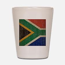Vintage South Africa Flag Shot Glass