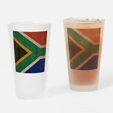 Vintage South Africa Flag Drinking Glass
