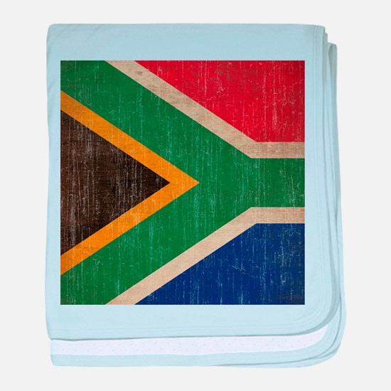 Vintage South Africa Flag baby blanket