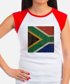 Vintage South Africa Flag Women's Cap Sleeve T-Shi