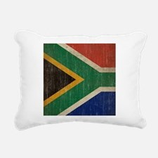 Vintage South Africa Flag Rectangular Canvas Pillo