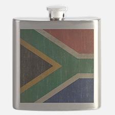 Vintage South Africa Flag Flask