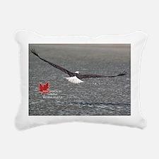 Wild Bald Eagle Rectangular Canvas Pillow