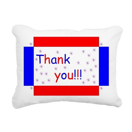 "Patriotic ""Thank You"" Rectangular Canvas Pillow"