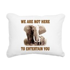 We Are Not Here Rectangular Canvas Pillow