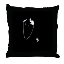 1920s Glamour Louise Brooks Throw Pillow