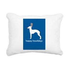 "Italian Greyhound ""Happy Howl Rectangular Canvas P"