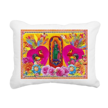 Our Lady of Color Rectangular Canvas Pillow