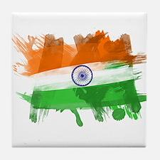 India Flag Tile Coaster