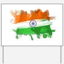 India Flag Yard Sign