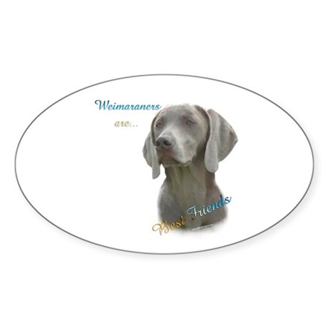 Weimaraner best friend oval decal by denofthedog for Weimaraner coloring pages