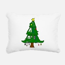 Fencer Christmas Cards Rectangular Canvas Pillow