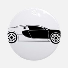 Sports Car Ornament (Round)