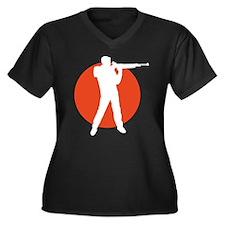shooting sports Women's Plus Size V-Neck Dark T-Sh