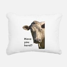 Have you herd? Rectangular Canvas Pillow