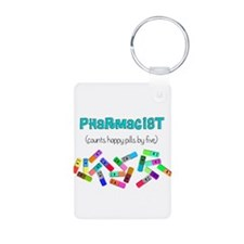pharmacist counts happy pills.PNG Keychains
