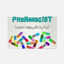 pharmacist counts happy pills.PNG Rectangle Magnet
