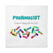 pharmacist counts happy pills.PNG Queen Duvet