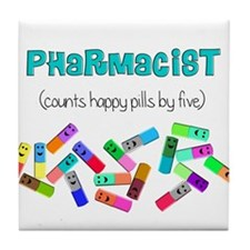 pharmacist counts happy pills.PNG Tile Coaster