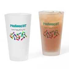 pharmacist counts happy pills.PNG Drinking Glass