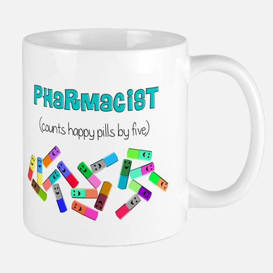 pharmacist counts happy pills.PNG Mug