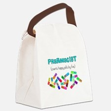pharmacist counts happy pills.PNG Canvas Lunch Bag