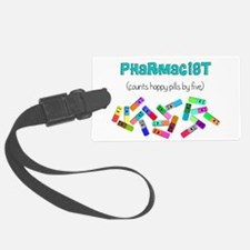 pharmacist counts happy pills.PNG Luggage Tag