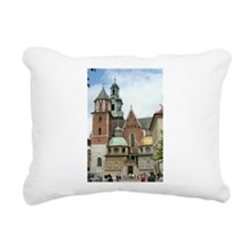 Cathedral in Krakow Rectangular Canvas Pillow