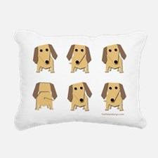 One of These Dachshunds! Rectangular Canvas Pillow