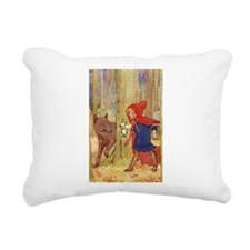 Tarrant's Red Riding Hood Rectangular Canvas Pillo