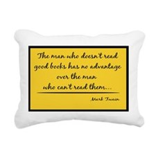 Read Good Books Poster Rectangular Canvas Pillow