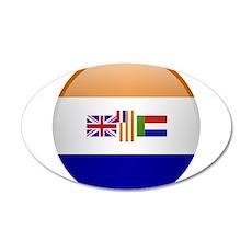 SA republic button Wall Decal
