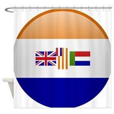 SA republic button Shower Curtain